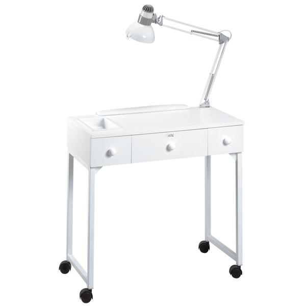 table manucure deluxe ameublement tables de service auxiliaires manucure equipro beauty. Black Bedroom Furniture Sets. Home Design Ideas